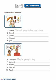 Interactive worksheet Be going to + vocabulary