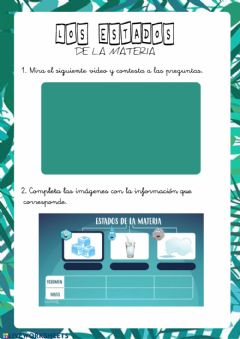 Interactive worksheet Estados de la materia