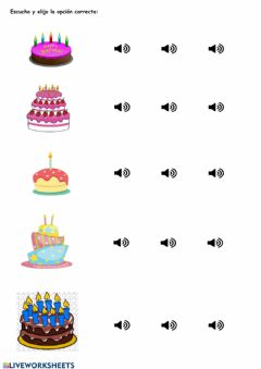 Interactive worksheet Counting candles
