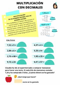 Interactive worksheet Multiplicamos con Decimales