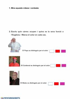 Interactive worksheet Religió 5è 3