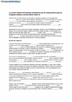 Interactive worksheet El Papa de Colombia