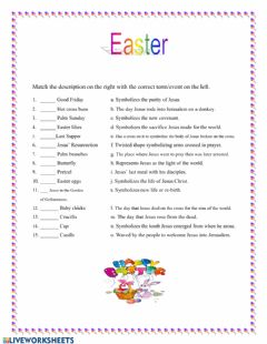 Interactive worksheet Easter Symbols and Events