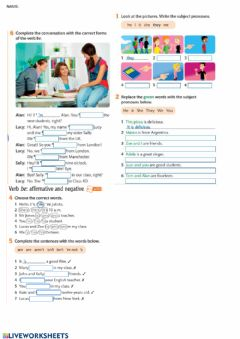 Ficha interactiva Verb to be