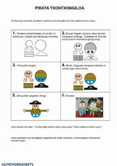 Interactive worksheet Pirata txontxongiloa
