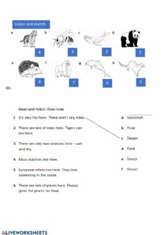 Interactive worksheet Endangered animals