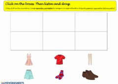 Interactive worksheet Clothes: Listen and drag