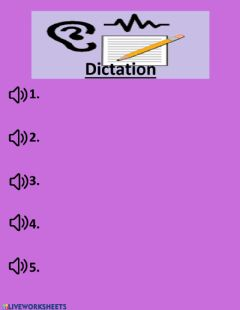 Ficha interactiva Simple Present Dictation