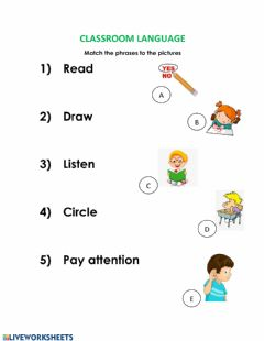 Interactive worksheet Match the phrases to the pictures