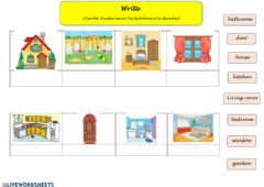 Interactive worksheet House: Write