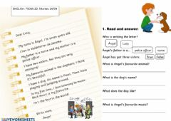 Interactive worksheet Reading a letter