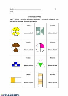 Interactive worksheet ¡Hola decimales!
