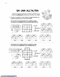 Interactive worksheet Da una all'altra