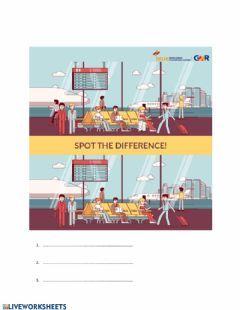 Interactive worksheet Spot the difference - airport
