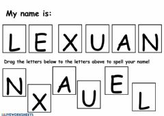 Interactive worksheet Le Xuan Letter Matching Name Worksheet