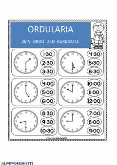 Interactive worksheet Ordularia