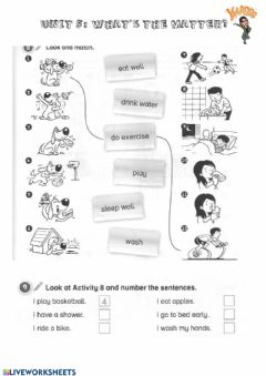 Interactive worksheet What's the matter?