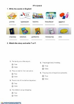 Interactive worksheet Travelling