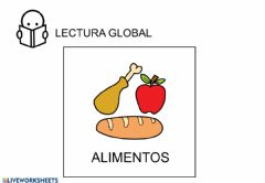 Interactive worksheet Lectura global-alimentos