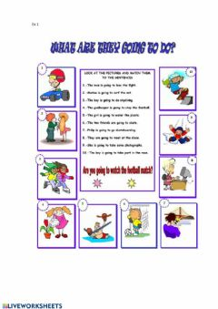 Interactive worksheet To be going to