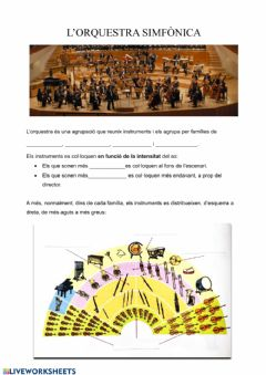 Interactive worksheet Distribució de l'orquestra