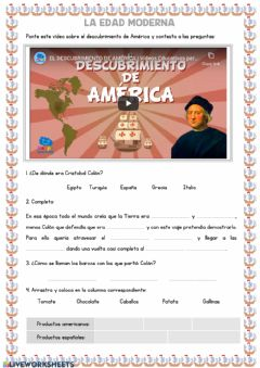 Interactive worksheet La Edad Moderna