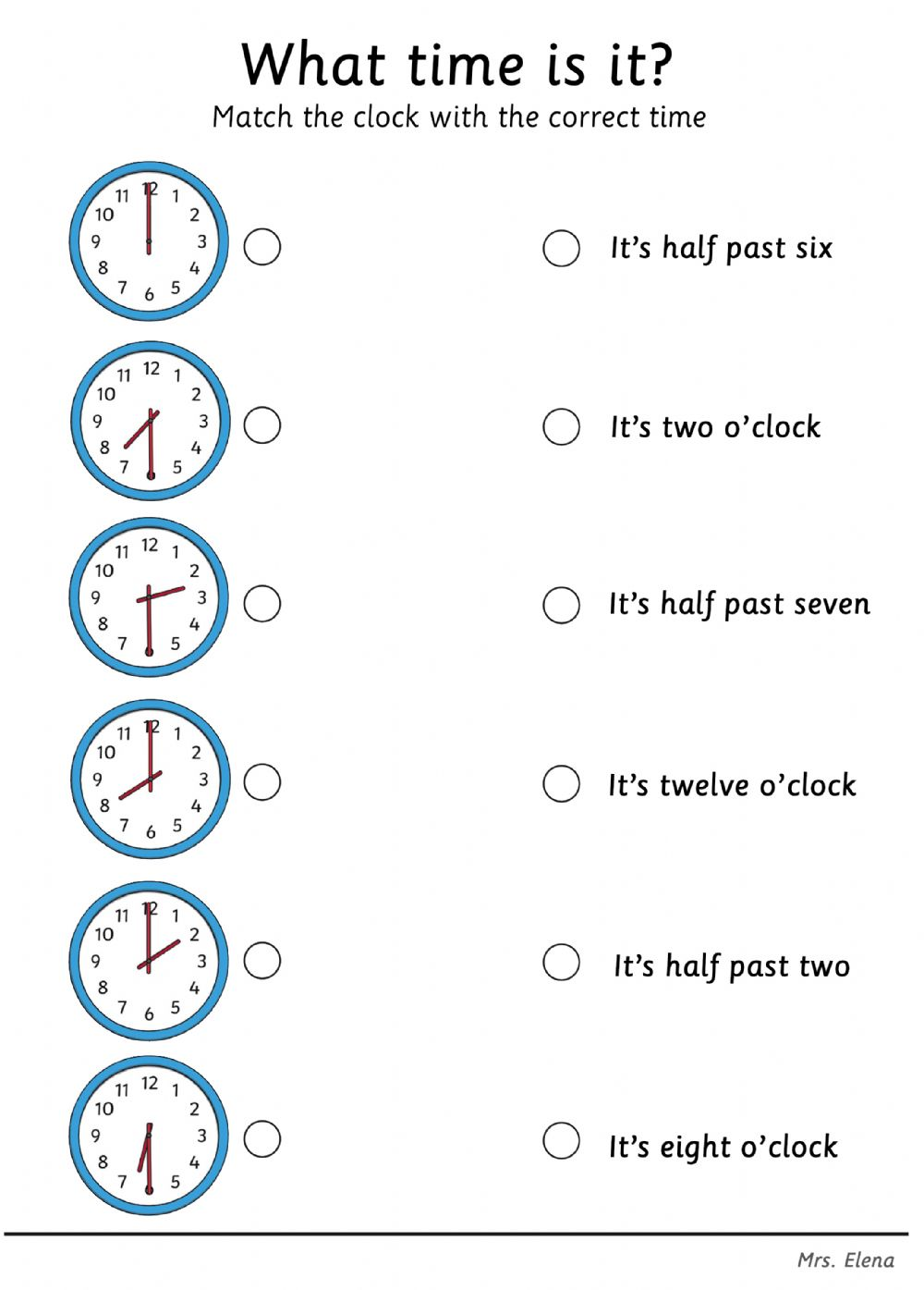 Telling the Time English as a Second Language ESL ...