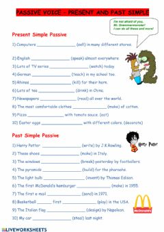 Interactive worksheet Passive voice