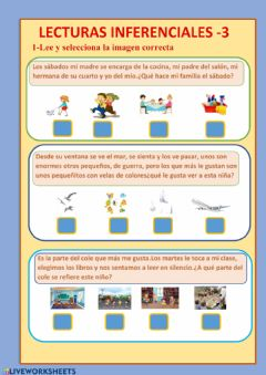 Interactive worksheet Lecturas inferenciales 3