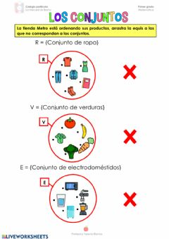 Interactive worksheet Los conjuntos 1