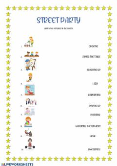 Interactive worksheet Street party2