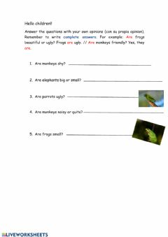 Interactive worksheet Animals - Yes, they are-No, they aren't