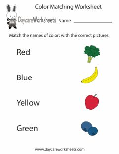 Interactive worksheet Match the Colors