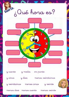 Interactive worksheet Las manecillas del reloj