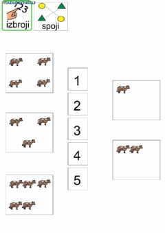 Interactive worksheet Količina do 5