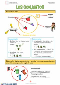 Interactive worksheet Los conjuntos 2