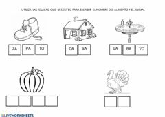 Interactive worksheet Sílabas simples