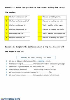 Interactive worksheet Used for - Used to