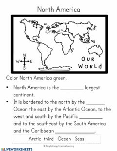 Interactive worksheet North and South America