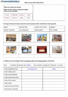 Interactive worksheet Vocabulary: Places