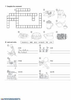 Interactive worksheet Recipes