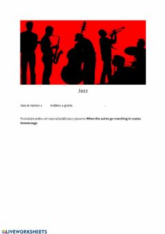 Interactive worksheet Jazz