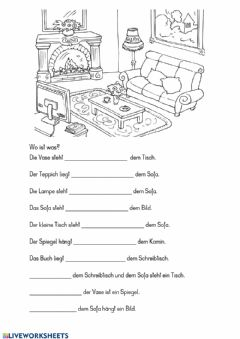 Interactive worksheet Wo ist was?