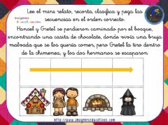Interactive worksheet Hansel y Gretel.