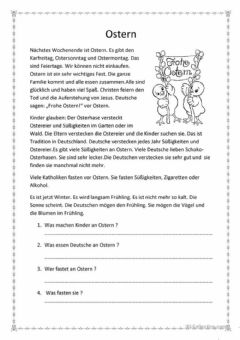 Interactive worksheet Ostern in Deutschland