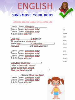 Interactive worksheet Song: Move  your  Body