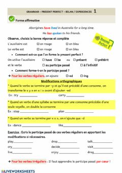 Interactive worksheet Present perfect - affirmative