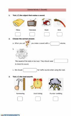Interactive worksheet Sounds