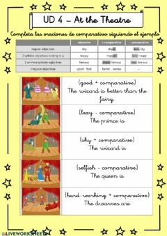Interactive worksheet At the Theatre - 6º UD 4 - Ficha 6