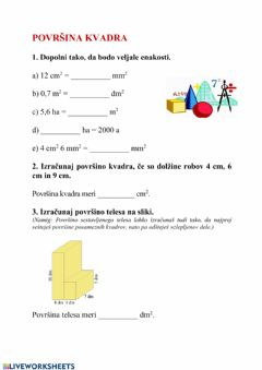 Interactive worksheet Kvader
